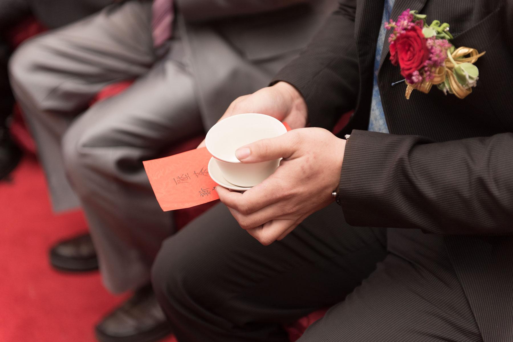 文定儀式壓茶甌
